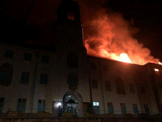 BREAKING: Fire guts Makerere University main building