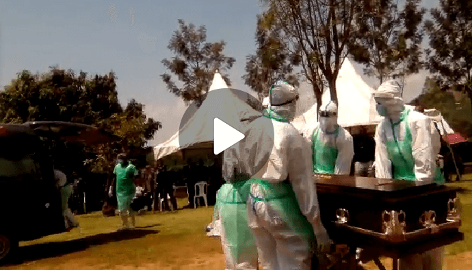 VIDEO: Fear grips Sheema residents as Coronavirus victim is buried in their area