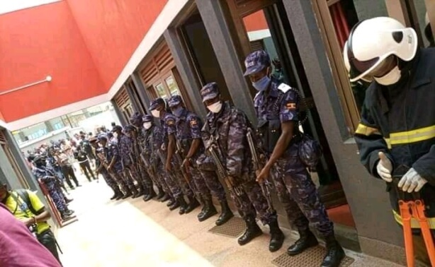 Unauthorized Security Officials mount search NUP head offices