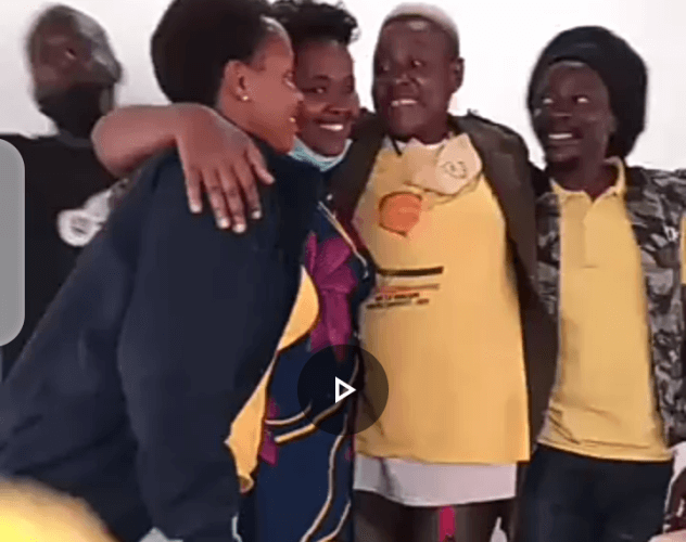 VIDEO: Western Uganda artistes go on knees begging Full Figure to forgive them