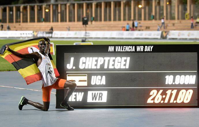 Uganda's Cheptegei breaks two world records in 7 weeks